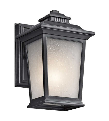 Kichler Lighting Builder Weatherly 1 Light Outdoor Wall Lantern in Black 49438BK photo