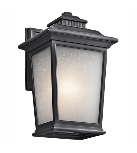 Kichler Lighting Builder Weatherly 1 Light Outdoor Wall Lantern in Black 49439BK