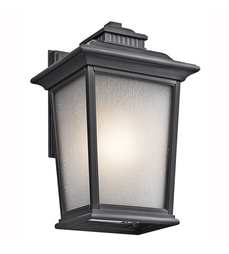 Kichler Lighting Builder Weatherly 1 Light Outdoor Wall Lantern in Black 49440BK photo
