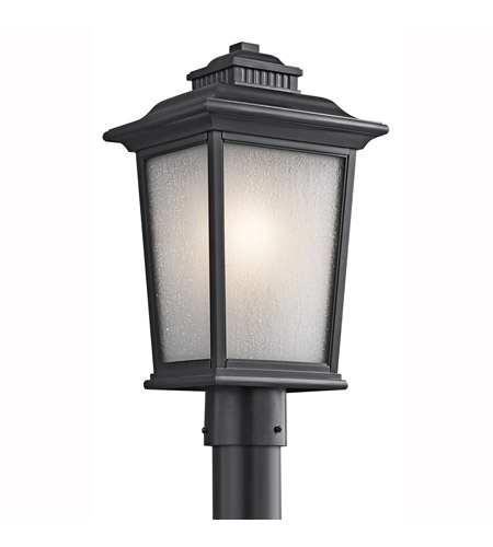 Kichler Lighting Builder Weatherly 1 Light Outdoor Post Lantern in Black (Painted) 49442BK