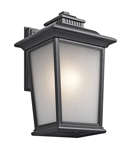 Kichler Lighting Builder Weatherly 1 Light Outdoor Wall Lantern in Black 49443BK