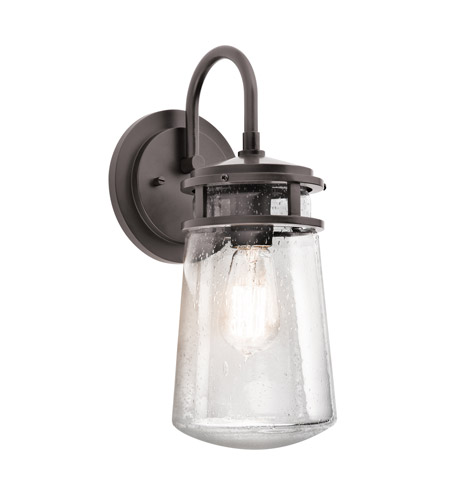 Kichler Lighting Lyndon 1 Light Small Outdoor Wall Lantern in Architectural Bronze 49445AZ photo