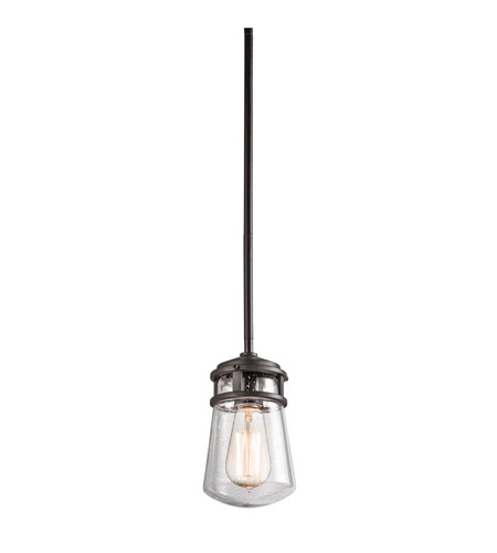 Kichler 49446AZ Lyndon 1 Light 5 inch Architectural Bronze Outdoor Hanging Pendant photo