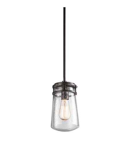 Kichler 49447AZ Lyndon 1 Light 6 inch Architectural Bronze Outdoor Hanging Pendant photo