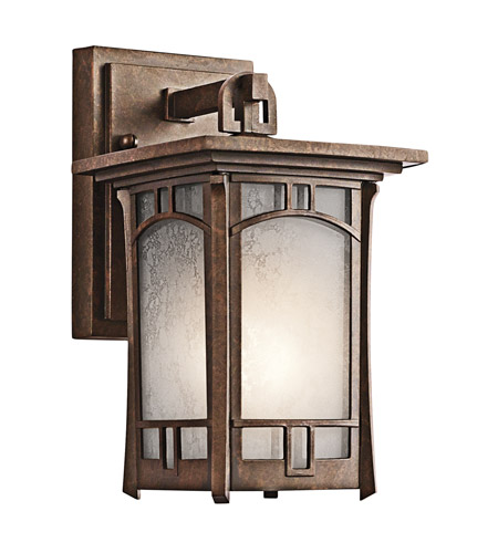 Kichler Lighting Soria 1 Light Outdoor Wall Lantern in Aged Bronze 49449AGZ photo