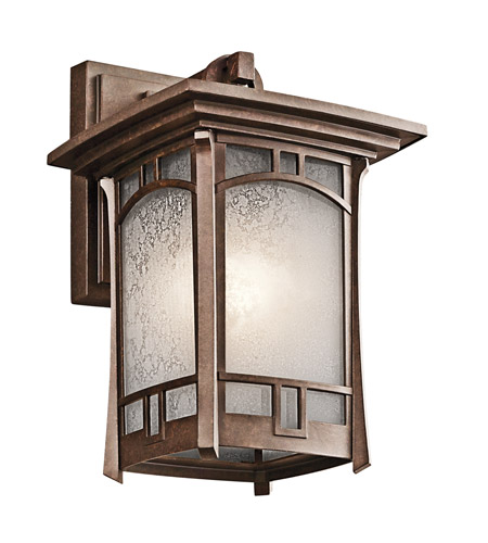 Kichler 49450AGZ Soria 1 Light 12 inch Aged Bronze Outdoor Wall Lantern photo