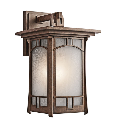 Kichler 49451AGZ Soria 1 Light 15 inch Aged Bronze Outdoor Wall Lantern photo