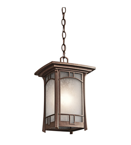 Kichler Lighting Soria 1 Light Outdoor Pendant in Aged Bronze 49452AGZ