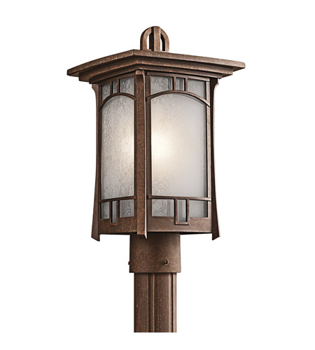 Kichler Lighting Soria 1 Light Outdoor Post Lantern in Aged Bronze 49453AGZ photo