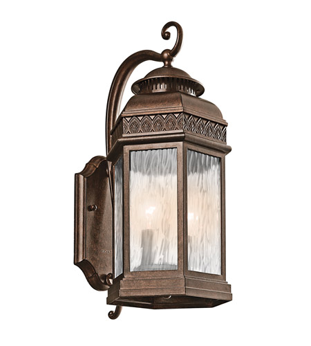 Kichler Lighting Tolland 2 Light Outdoor Wall Lantern in Brushed Bronze 49462BRZ photo