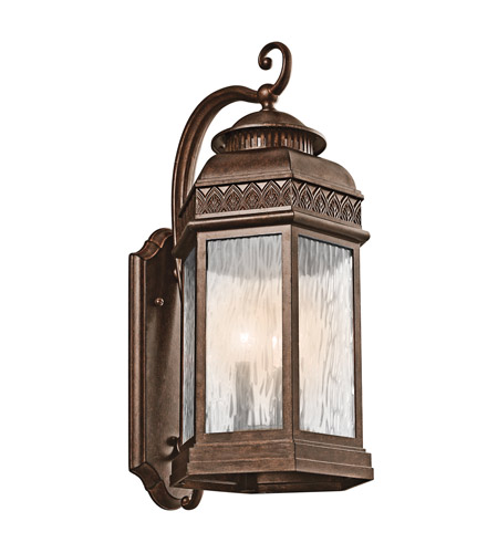 Kichler Lighting Tolland 3 Light Outdoor Wall Lantern in Brushed Bronze 49463BRZ