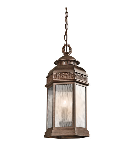 Kichler Lighting Tolland 3 Light Outdoor Pendant in Brushed Bronze 49465BRZ photo