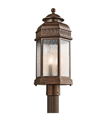 Kichler Lighting Tolland 3 Light Outdoor Post Lantern in Brushed Bronze 49466BRZ