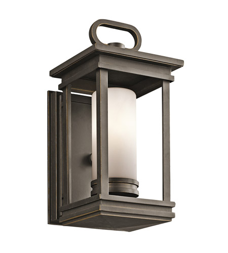 Kichler 49474RZ South Hope 1 Light 12 inch Rubbed Bronze Outdoor Wall Lantern photo