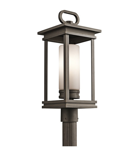 Kichler 49478RZ South Hope 1 Light 22 inch Rubbed Bronze Outdoor Post Lantern photo