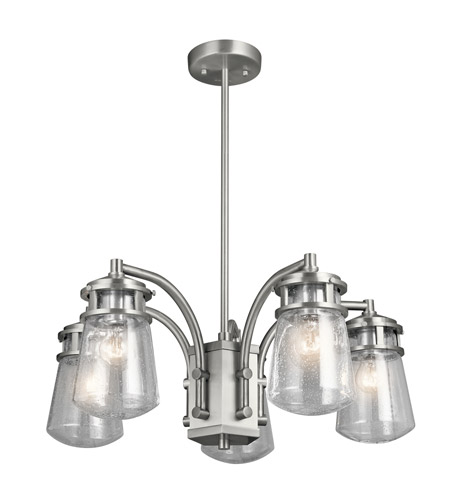 Kichler 49498BA Lyndon 5 Light 24 inch Brushed Aluminum Outdoor Chandelier photo