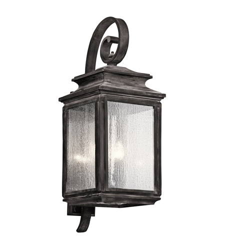 Kichler 49504WZC Wiscombe Park 4 Light 31 inch Weathered Zinc Outdoor Wall - Xlarge photo