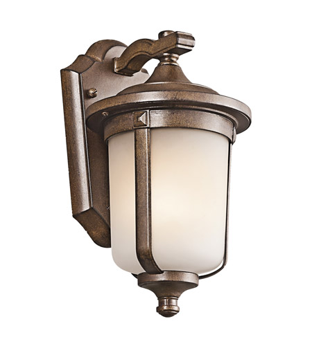 Kichler Lighting Gadsden 1 Light Outdoor Wall Lantern in Brown Stone 49507BST