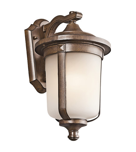 Kichler Lighting Gadsden 1 Light Outdoor Wall Lantern in Brown Stone 49508BST photo