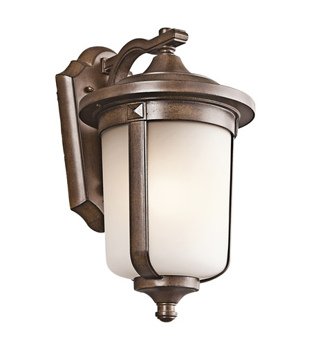 Kichler Lighting Gadsden 1 Light Outdoor Wall Lantern in Brown Stone 49509BST