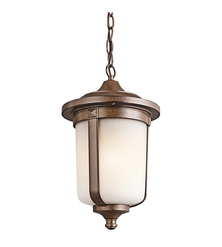 Kichler Lighting Gadsden 1 Light Outdoor Pendant in Brown Stone 49511BST photo