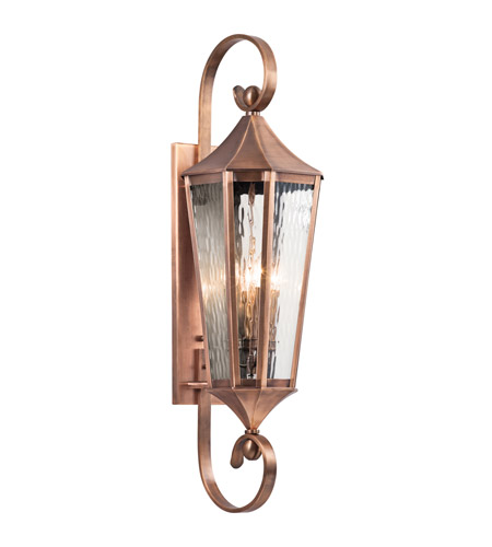 Kichler Rochdale 4 Light Outdoor Wall - Xlarge in Antique Copper 49514ACO photo