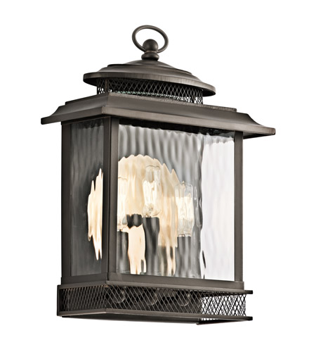 Kichler Pettiford 3 Light Outdoor Wall in Olde Bronze 49542OZ