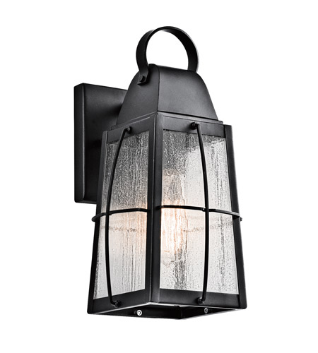 Kichler 49552BKT Tolerand 1 Light 12 inch Textured Black Outdoor Wall Sconce, Small photo