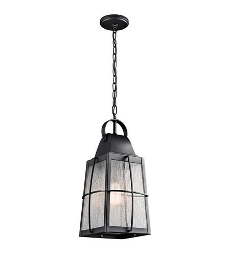 Kichler 49556bkt Tolerand 1 Light 10 Inch Textured Black Outdoor Hanging Pendant Photo