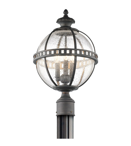 Kichler 49604ld halleron 3 light 20 inch londonderry outdoor post lantern photo
