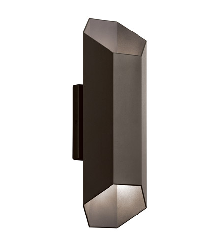 Kichler 49608AZTLED Estella LED 17 inch Textured Architectural Bronze Outdoor Wall Lantern photo