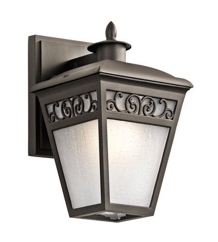 kichler 49611oz park row 1 light 1 inch olde bronze outdoor wall lantern