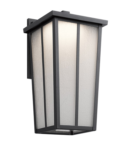 Kichler 49624BKTLED Amber Valley 17 inch Textured Black Outdoor Wall Light photo