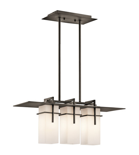 Kichler Lighting Caterham 3 Light Outdoor Chandelier in Olde Bronze 49637OZ photo