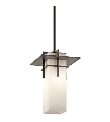 Kichler Lighting Caterham 1 Light Outdoor Pendant in Olde Bronze 49645OZ