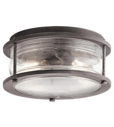 Ashland Pedestal Lantern In Weathered Zinc: Kichler 49669WZC Ashland Bay 2 Light 12 Inch Weathered