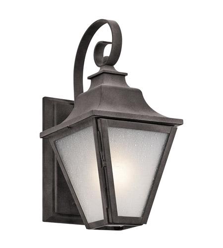 Ashland Pedestal Lantern In Weathered Zinc: Kichler 49700WZC Northview 1 Light 13 Inch Weathered Zinc