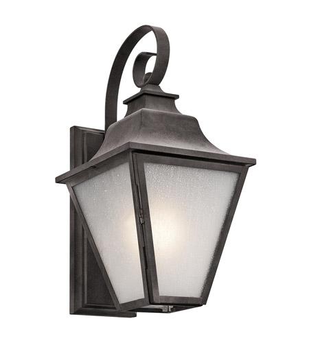 Ashland Pedestal Lantern In Weathered Zinc: Kichler 49701WZC Northview 1 Light 17 Inch Weathered Zinc