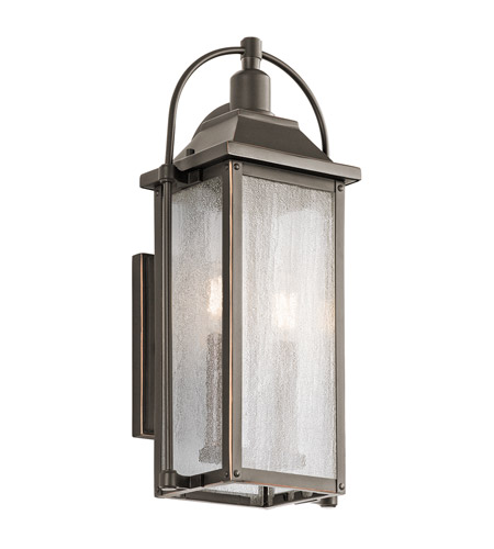 Kichler 49714OZ Harbor Row 2 Light 19 inch Olde Bronze Outdoor Wall Sconce, Small photo