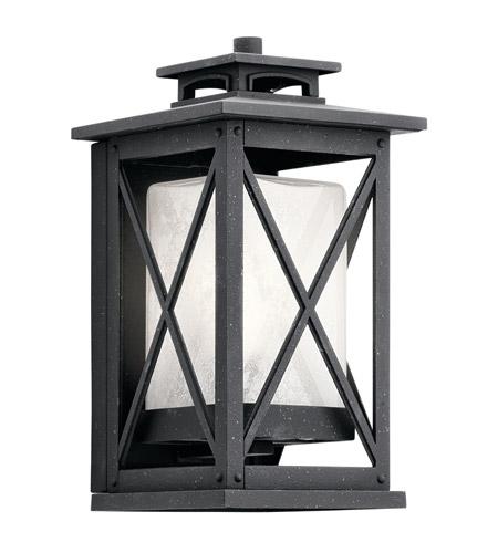 Black Outdoor Wall Light kichler 49770dbk piedmont 1 light 12 inch distressed black outdoor