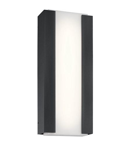 Kichler 49799bktled Ashton Led 20 Inch Textured Black Outdoor Wall Light Medium