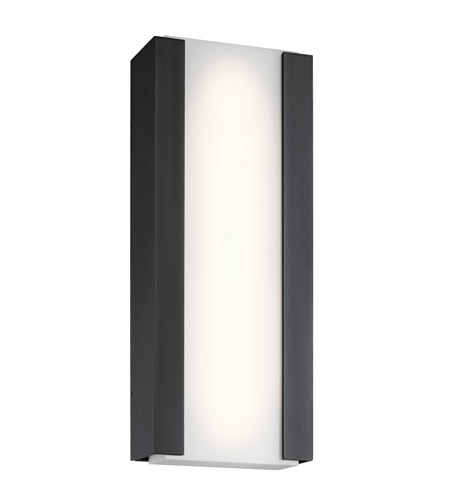 Ashton Led 24 Inch Textured Black Outdoor Wall Light Large