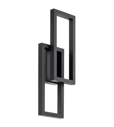Kichler 49803bktled Rettangolo Led 24 Inch Textured Black Outdoor Wall Light Large
