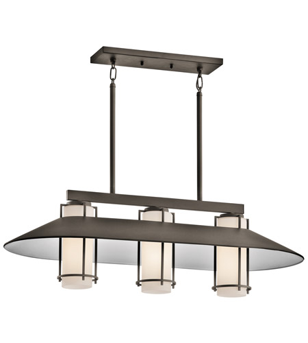 Kichler Lighting Tavistock 3 Light Outdoor Chandelier in Olde Bronze 49811OZ photo