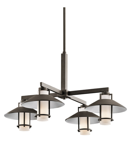 Kichler Lighting Tavistock 4 Light Outdoor Chandelier in Olde Bronze 49812OZ