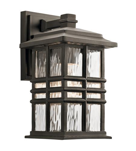 kichler 49829oz beacon square 1 light 12 inch olde bronze outdoor