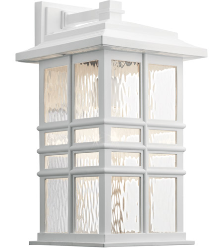 Beacon Square 1 Light 18 Inch White Outdoor Wall X Large