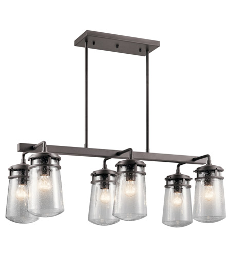 Kichler 49835AZ Lyndon 6 Light 17 inch Architectural Bronze Outdoor Chandelier photo