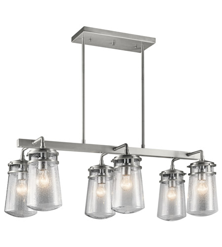 Kichler 49835BA Lyndon 6 Light 17 inch Brushed Aluminum Outdoor Chandelier photo
