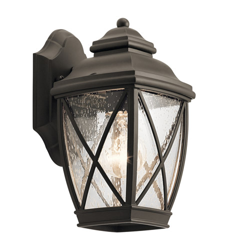 Kichler 49840oz Tangier 1 Light 10 Inch Olde Bronze Outdoor Wall Small